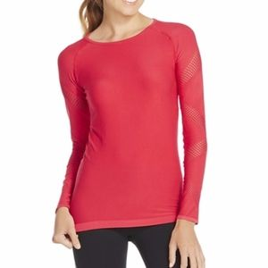 [Fabletics] Dark Pink Long Sleeve Top